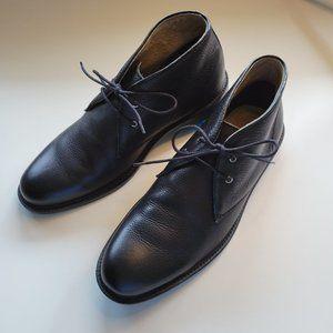 Banana Republic Black Leather Chukka Boots